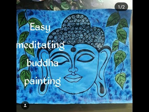 Easy meditating buddha painting