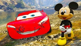 Cartoons about cars | Colors for Children to Learn with Mickey Mouse and Lightning McQueen