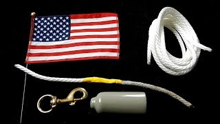 How to Replace a Flagpole Rope (Halyard)