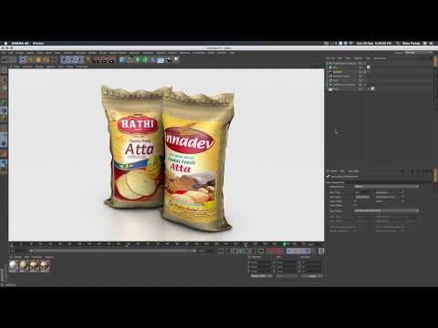 Sack Modelling  with UV Texturing in Cinema 4D Tutorial Part 1