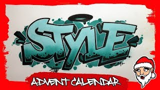 How To Draw Graffiti Style Letters (18th Door)
