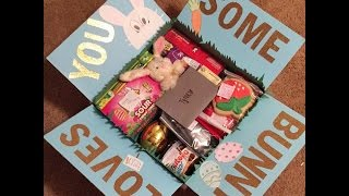 Whats In My Boyfriends Easter College Care Package | Hallie Dominguez