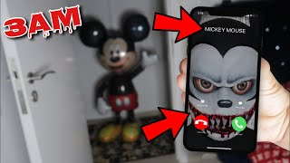 DO NOT CALL MICKEY MOUSE AT 3AM!! *OMG SCARY MICKEY MOUSE CAME TO MY HOUSE*