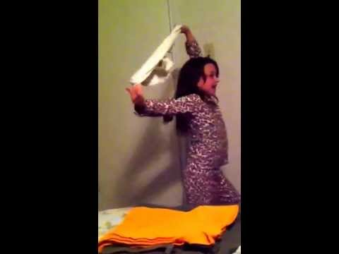 Little girl dances with grammies