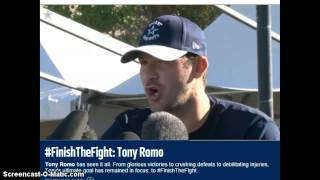 Tony Romo is a bad ass FINISH THE FIGHT