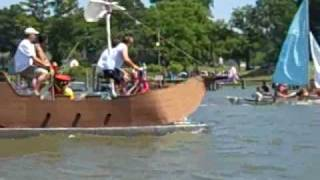 preview picture of video '4th of July homemade raft race on Chuckatuck Creek, VA'