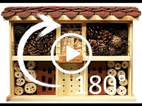 """Video: Insektenhotel """"Landhaus Komfort"""" (180°-Rundumsicht; LUXUS-INSEKTENHOTELS kaufen)"""