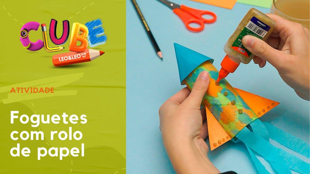 Clube Leo&Leo: Foguetes com rolo de papel