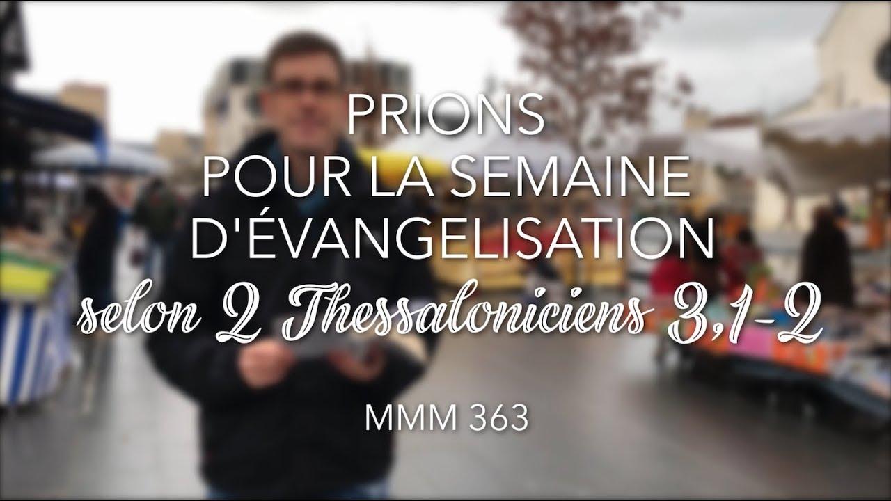 Prions pour la semaine d'évangélisation (2 Th. 3,1-2)