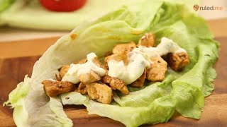Keto Chili Lime Chicken Lettuce Wraps Recipe