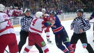 Бой КХЛ: Макаров дерется, Лера недовольна / KHL Fight: Makarov fights Vityaz