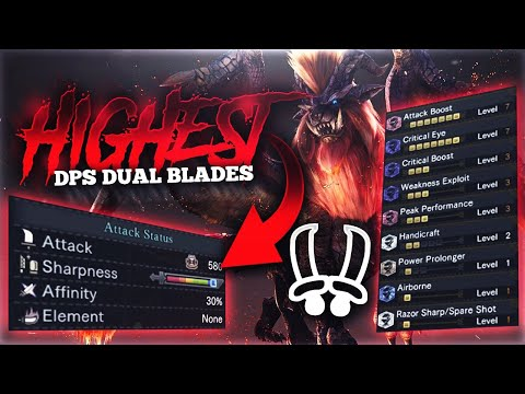 ZIREAEL DUAL BLADES BUILDS | HIGHEST DAMAGE | MHW - смотреть онлайн