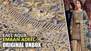 👰 Emaan Adeel Bridal Collection 2019 - Unbox EA01 Aqua Sprinkle - Sara Clothes