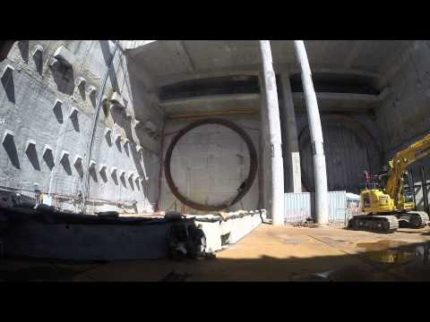 Watch A Tunnel Boring Machine Shred Open A Giant Hole