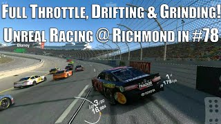Full throttle, drifting, wall grinding madness @ Richmond in the Truex #78