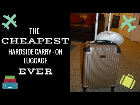 CHEAPEST CARRY ON LUGGAGE EVER!!