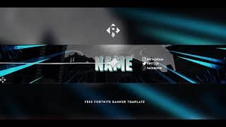 free gfx fortnite youtube banner template free download photoshop