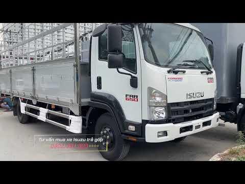 Xe Tải Isuzu FRR650 Bửng Nhôm Inox 6.5 Tấn 2021 Dài 6m7
