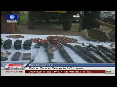 Police parade suspected criminals in Imo