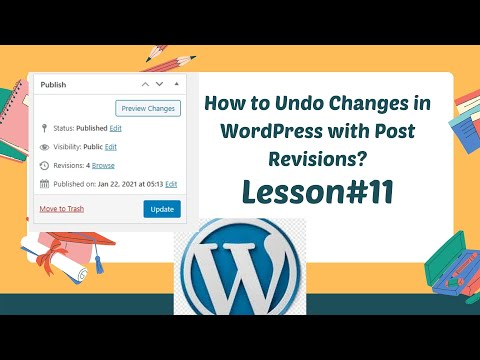 WORDPRESS TUTORIAL FOR BEGINNERS 2021 |  How to Undo Changes in WordPress with Post Revisions?