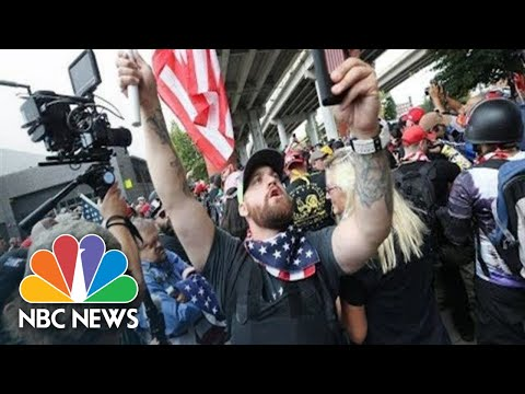 Watch live: Far-right, extremist groups clash in Portland, Oregon