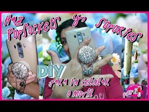 DIY Como hacer tus propios sujetadores o PopSockets, soporte para celular o movil -JULY SEIB