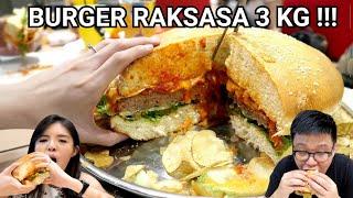PUAS!!! BURGER 3 KG TERBESAR SE-INDONESIA !!!