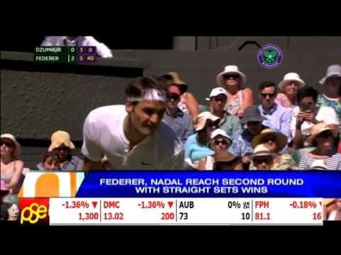 Federer, Nadal reach Wimbledon second round #Nadal