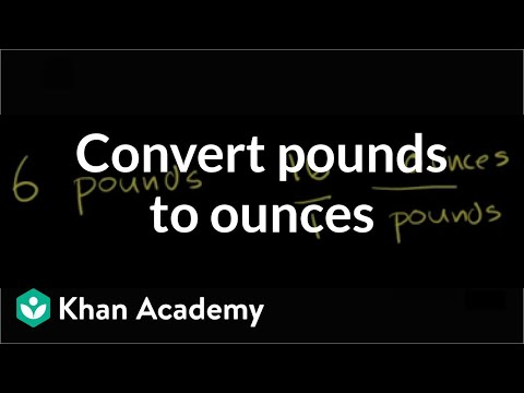 Converting Pounds To Ounces Video Khan Academy