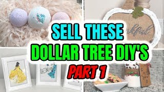 DOLLAR TREE DIYs TO SELL Part #1 DIY Crafts To Make And Sell