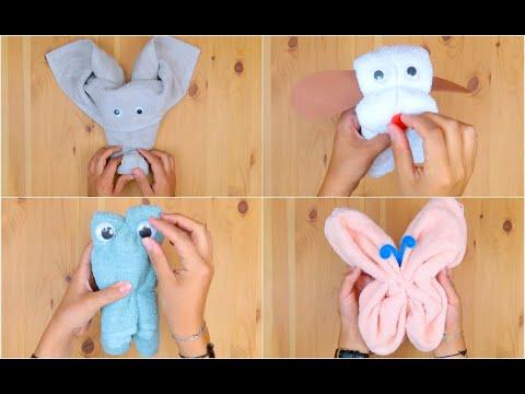 4 idee originali per piegare un asciugamano!