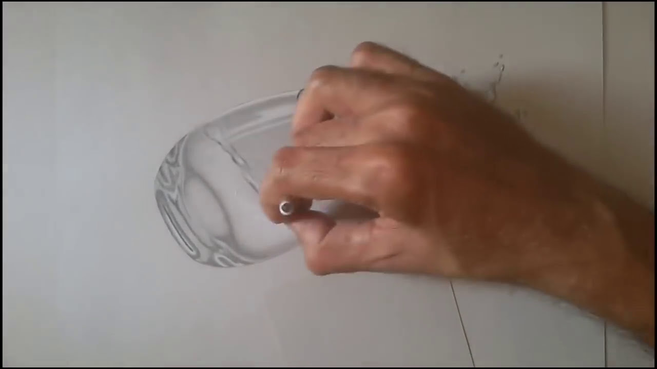 3d drawing water splash from glass by naushad ahmad