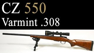 CZ 550 Varmint .308 Review, Trigger, and Accuracy