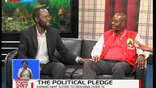 Amos Kimunya and Prof. Anyang' Nyong'o  during an interview on the Jubilee Manifesto