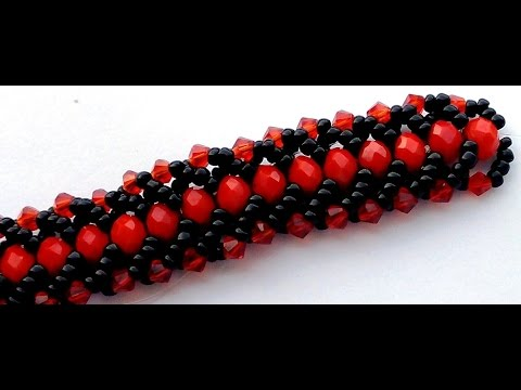 flat spiral beaded necklace tutorial
