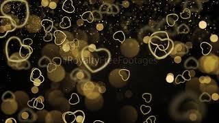 golden heart background status, heart background animation | love background, heart background video