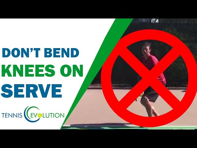 STOP! Don't Bend Your Knees On Your Serve | TENNIS SERVE