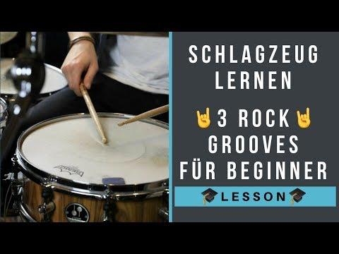 Schlagzeug lernen Rock – 3 Rock Grooves für Beginner