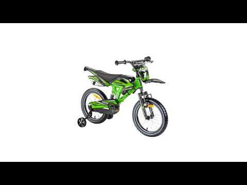 Kawasaki Kinderfahrrad 16 Zoll Kids Bike Moto Sairensa mit Rücktrittbremse grün