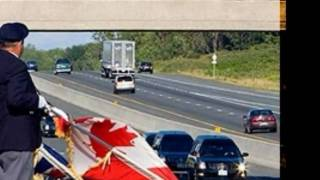Highway of Heroes - The Trews song as the background