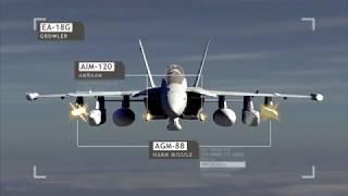 Самолет Радио Электронной Борьбы EA 18G   Growler  Военная авиация США