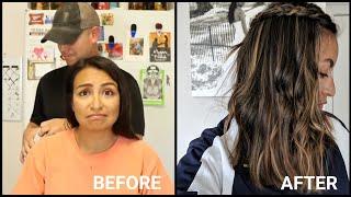 My Husband Highlights My Hair (Loreal Frost And Design Caramel) On Dark Hair