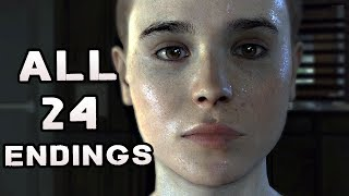 Beyond Two Souls ALL ENDINGS 24 Endings EVERY Possible Ending END