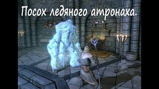 Посох ледяного атронаха в начале игры.
