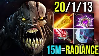 15Min Radiance [Lifestealer] Best Items Build With Super Farm 810GPM By Meracle 7.18|Dota 2 FullGame
