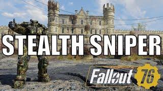 Fallout 76: Stealth Sniper Build - Insane Headshot Dmg - No VATs