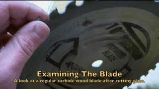 Saw blade after cutting 2 inches of glass.