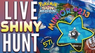 Shiny Minior in Pokemon Sun and Moon after 571 Eggs!!!