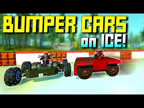 Bumper Cars, But The Arena is an Explosive Ice Rink! - Scrap Mechanic Multiplayer Monday