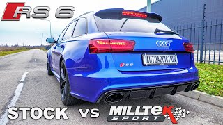 AUDI RS6 MILLTEK EXHAUST vs STOCK - Full Sound Comparison! Startups, Revs, Tunnel & Casual Driving